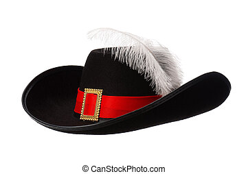 Hat with feather_382147jpg - Black hat with feather and...