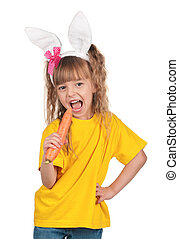 Little girl with bunny ears_454347jpg - Easter concept image...