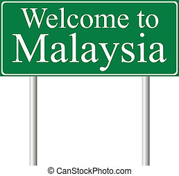 Welcome to Malaysia, concept road sign