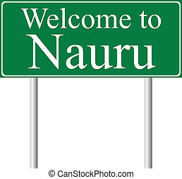 Welcome to Nauru, concept road sign
