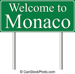 Welcome to Monaco, concept road sign