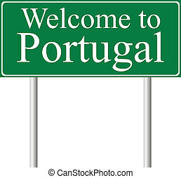 Welcome to Portugal, concept road sign