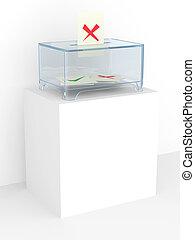 Vote box in a referendum