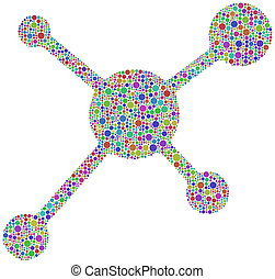 Social Network Icon - Funny and coloured symbol of a social...