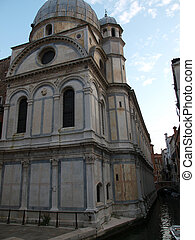 Venice - Saint Maria of the Miracles.The Church of Santa...