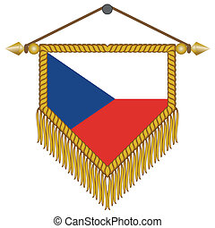 vector pennant with the flag of Czech Republic - vector...
