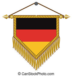 vector pennant with the flag of Gemany - vector pennant with...