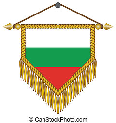 vector pennant with the flag of Bulgaria - vector pennant...