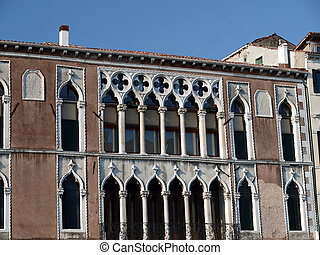 Traceries and typical adornments for venetian windows - Venice