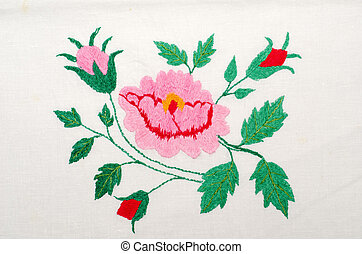 roses as handicraft embroidery good