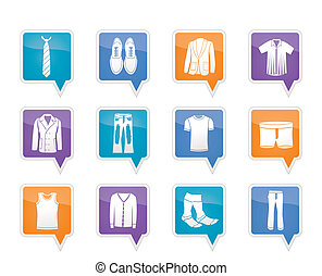 man fashion and clothes icons