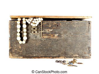 Old Crate with jewels