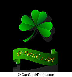 Leaf clover origami.Vector paper art for St. Patrick's day