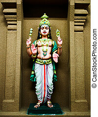 Hindu Goddess - Colorful statue of an Hindu Goddess