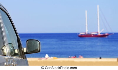 Coming to beach by car
