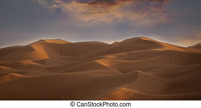 Desert landscape Blue sky UAE