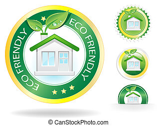 Eco House - This image is a vector file representing a eco...