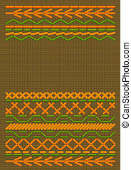 Background  with ethnic embroider. Vector illustration.