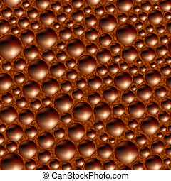 Aerated porous black chocolate. Seamless background.