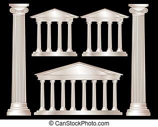 Grego, colunas