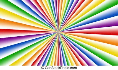 star burst rainbow background