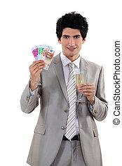 A successful businessman.