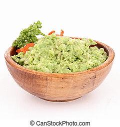 碗,  guacamole