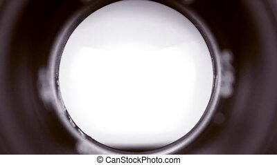 Photo diaphragm open and close - Diaphragm camera shutter...
