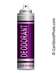 Deodorant - Illustration depicting a single deodorant spray...