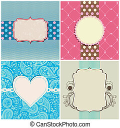 Retro greeting cards set