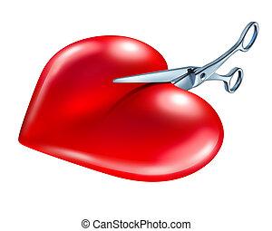 Break Up - Breaking off and break up symbol of couple in...