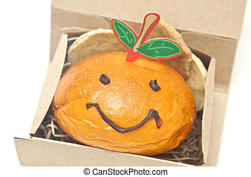 Smiley face bread