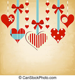 Valentine day background with cute hearts