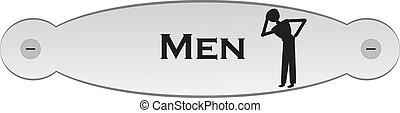 door plate with men