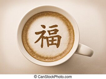 chinese new year letter latte art - chinese new year...
