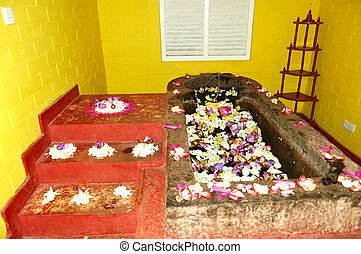The bath for Ayurveda procedures in SPA at popular hotel,...