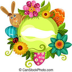 easter card - vector illustration of a easter card