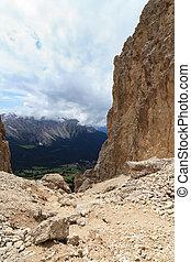 Vaiolon pass - Italian Dolomites - Vaiolon pass in...