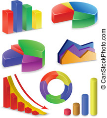 Charts and Graphs Collection. Reports set.