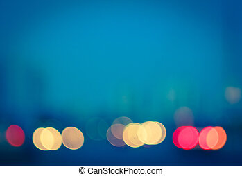 Photo of bokeh lights  - Street lights out of focus