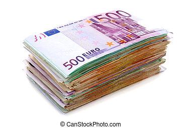 Pile of euro banknotes - Big pile of euro bank notes...