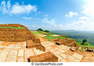 View from mount Sigiriya, Sri Lanka (Ceylon). - Sigiriya (...