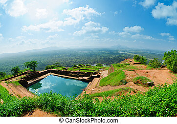 View from mount Sigiriya, Sri Lanka (Ceylon). - Sigiriya (...