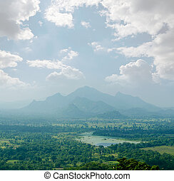 view from mount Sigiriya into the valley, Sri Lanka...