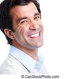Handsome smiling man. - Portrait of handsome smiling man....