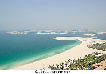 View on Jumeirah Palm artificial island, Dubai, UAE