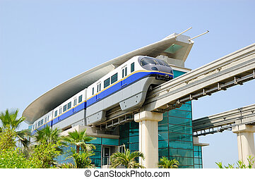 The Palm Jumeirah monorail station, Dubai, UAE