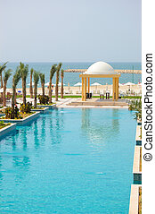 Swiming pool and beach area, UAE