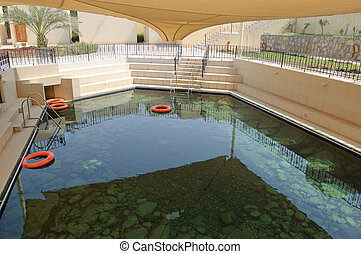 Thermal spring and spa pool, UAE