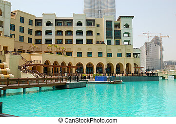 DUBAI, UAE - AUGUST 27: The Palace - The Old Town hotel. It is located on the Old Town Island in Burj Khalifa complex on August 28, 2009 in Dubai, United Arab Emirates